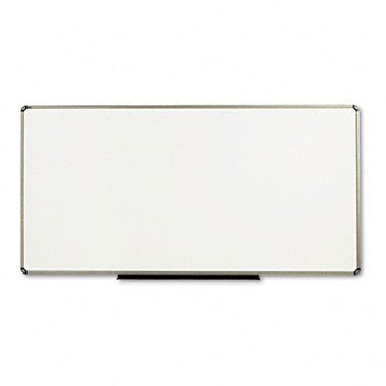 GBC Total Dry Erase Board, 96 x 48, White, Euro-Style Aluminum Frame by GBC
