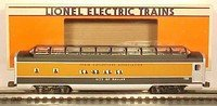 Lionel 52085 Train Collectors Association 1996 Aluminum Dallas Full Vista Dome Car