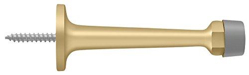 (Deltana BDS30U4 Solid Brass 3 1/4-Inch Baseboard Door Bumper Satin Brass)