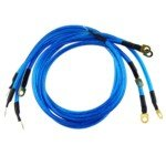 Kit Wires Grounding - HKS Universal 5 Points Racing Performance Grounding Cable/ Wire Kit for Car Auto Vehicle Automobile(Blue)