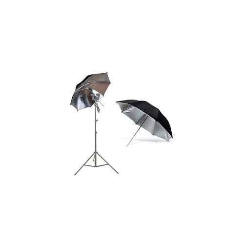 Shopee 80cm Umbrella Professional Strobe Sungun Photography Studio Light Flash(Black Silver)