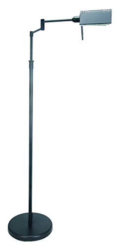 Lite Source LS-960BLK Pharma Collection Floor Lamp with Black Metal Shade, Black ()