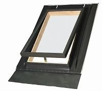Fakro Ausstiegsfenster Dachausstieg Dachfenster Ausstieg Dachluke Aussteiger Holz / Alu inkl. Eindeckrahme 450 x 550 cm