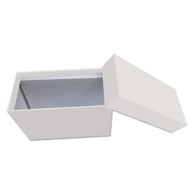 Universal 47281 Index Card Box with 100 Ruled Index Cards, 4'' x 6'', Gray by Universal (Image #1)