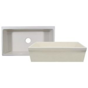 (Farmhaus Fireclay Quatro Alcove Reversible Fireclay Kitchen Sink Finish: White)