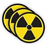 Radiation Symbol Gaming PC Sticker | Laptop Notebook Desktop Decal | Vinyl Label