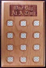 Alcoholics Anonymous Wood Lasered Medallion Plaque