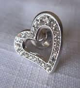 Swarovski SCS Heart Tack Pin