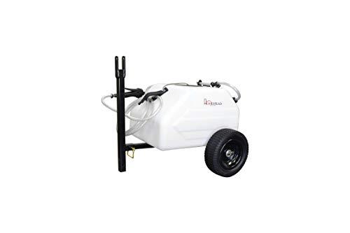 Homestead SL6-46-012Q-HS 12 Gallon Pull & Tow Boom Broadcast Trailer Sprayer - Everflo 1.1GPM, White