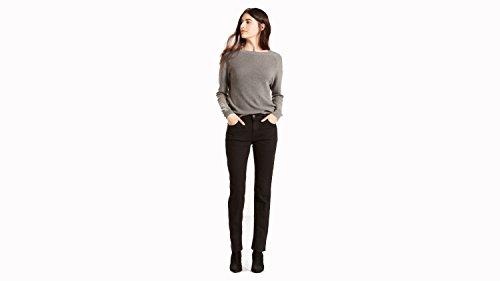 Levi's Women's 505 Straight Jeans, Black Onyx, 26 (US 2) R