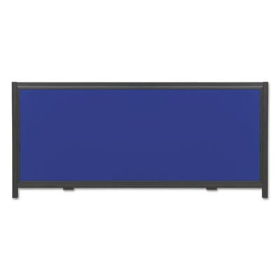Display System Optional Header Panel, Fabric, 24 x 10, Blue/Gray/Black PVC Frame, Sold as 1 Each by Quartet (Image #1)