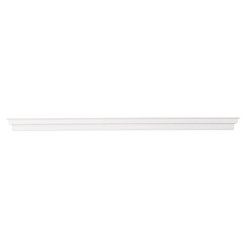 Furniture HotSpot 72 Inch Mantel Shelf – White - 72