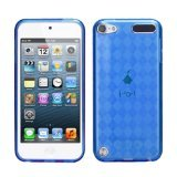 Asmyna Unique Protective Case for iPod touch 5 (Dark Blue Argyle pane)