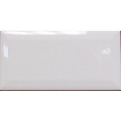 U.S. Ceramic Tile Bright Glazed Snow White 3 in. x 6 in. Ceramic Beveled Edge Wall Tile (10 sq. ft. / case) - White Glazed Ceramic Tile