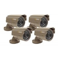 Lines 420 Tv Resolution (Q-See QSDS14273X4  4 Pack of Premium CCD Color Surveillance  Camera with  420 TV Lines of Resolution)