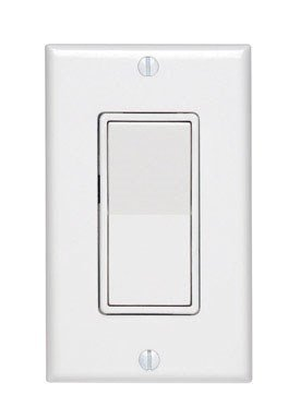 (Leviton Available 5671-2W 15 Amp, 277VAC Switch Standard, Quiet Rocker, Matching Decora wallplate, Residential Grade, Grounding, White )