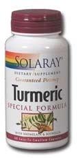 Solaray - extrait de racine de curcuma, 120 gélules