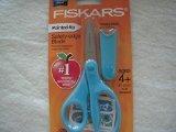 """Fiskars 5"""" Pointed-Tip Kids Scissors Lt. Blue w/Blade Sheath"""