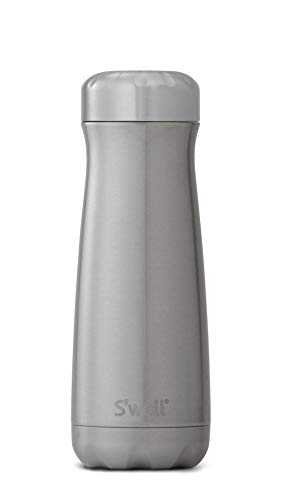 (S'well 10320-B17-00300 Stainless Steel Travel Mug, 20oz, Silver Lining)