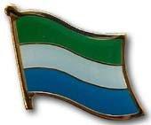 (Flagline Sierra Leone - National Lapel Pin)