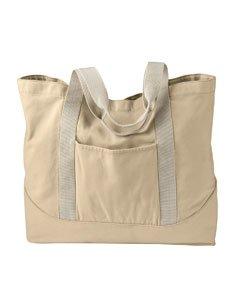 Personalize Zipper Tote Bag - AP PIG/DYE CANVAS LG TOTE