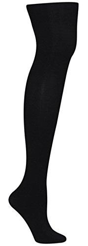 Capelli New York Girls Solid Fleece Lined Full Tight Jet Black (Capelli Fleece)