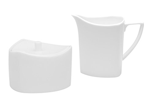 Red Vanilla Extreme Covered Sugar Bowl And Creamer Set, White by Red Vanilla