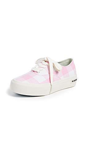 SeaVees Women's Women's Legend Platform Gingham Shoe, Pink Gingham, 8 M US - Gingham Platforms