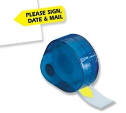 Redi-Tag Please Sign, Date & Mail Page Flag, Yellow, 120 flags per pack (Please Sign Date And Mail)
