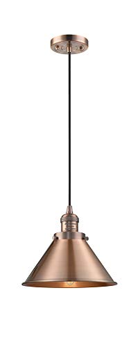 (Innovations 201C-AC-M10-AC 1 Light Mini Pendant Antique Copper)