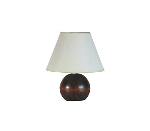 Sandria Wooden Ball - Lámpara de mesa (E27, 60 W, 230 V): Amazon ...
