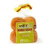 Udis Gluten Free Whole Grain Hamburger Buns - 4 per pack - 8 packs per case. - Whole Wheat Hamburger Buns