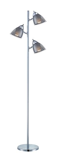 Shade Lamp Floor Acrylic (Lite Source Floor Lamps LSF-81615A/SMOKE Selika II 3-Lite Floor Lamp with Smoke Acrylic Shade, 8