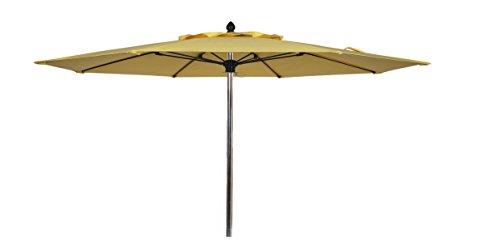 FiberBuilt Umbrellas Riva Umbrella with Premium Marine Grade Sunbrella Fabric Canopy & Bright Aluminum Pole, 9′, Jockey Red