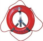 JIM BUOY 1123 Roughneck Stainless Steel Rack fits Life Ring, 24''