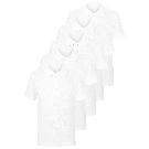 Boys School 5 Pack Stay White Teflon® Polo Shirts - White | School | George at ASDA