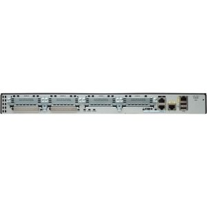 Cisco 2901 Router - 2 Ports - No - Yes - PoE Ports - 7 Slots - Gigabit Ethernet - 1U - Rack-mountable, Wall Mountable - C2901-AX/K9 by Generic
