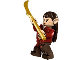 Lego Hobbit Mirkwood Elf Chief Minifigure