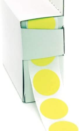 Dot Label Self-Adhesive Paper x Width: 1 1000 PK - 3VCP1 (Pack of 2)