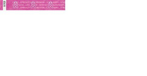 Tyvek Wristbands - Breast Cancer Support - Pink Ribbon - Cancer Support Events - Pink Color