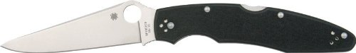 Spyderco Police 3 G-10 Plain Edge Knife,