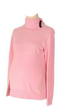 Lilo Maternity Turtleneck Sweater Light Pink (L short) at Amazon ...