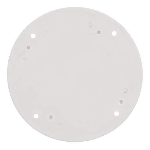 SEACHOICE 39601 Mounted Boat Plate Cover, Arctic White Finish, up to 4 Inches ()