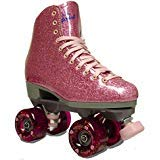 Sure-Grip Pink Shimmer Glitter Roller Skates - Limited Edition (Mens 6 / Womens 7-7.5)