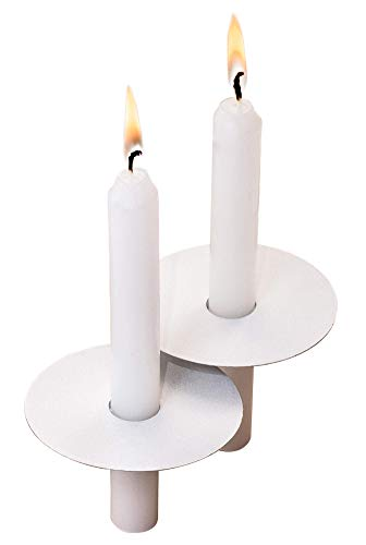 (Exquizite 104 Church Candles with Drip Protectors for Devotional Candlelight Vigil Service, Box of 104 Candles, Unscented White 5