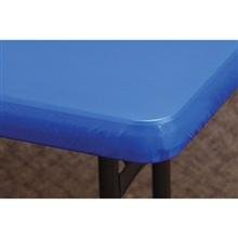 - Hoffmaster Blue Kwik Plastic Table Cover with Elastic Edge, 30 x 96 inch - Banquet Size 8 feet -- 25 per case.