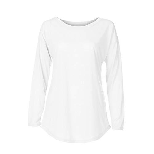 Chemisier la Longues pour MuSheng Mode Shirt Chemisier Femmes Casual Blanc T de Manches Haut vCw1xwfq