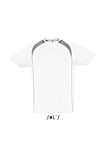 Sol 's – Mens Camiseta de Match blanco