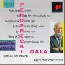 Penderecki Gala: Flute Concerto; Sonata for Violin and Piano; Benedicamus Domino; Sinfonietta for Strings; Lacrimosa; Song of Cherubim; Clarinet Quartet - Cherub Flute