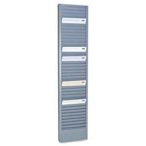 Steelmaster 40-Pocket Steel Swipe Card/Badge Rack, 4 1/8 x 18 11/16 (5 Units) by MMF